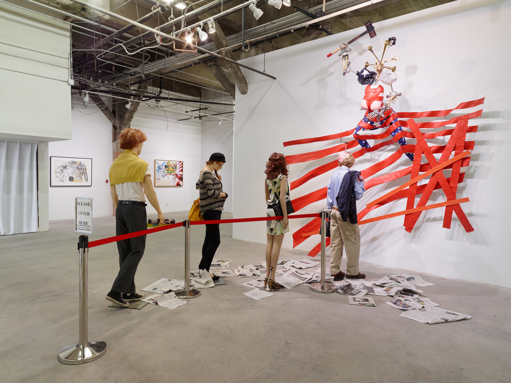 Ed Bereal, Miss America: Manufacturing Consent (Upside down and backwards), 2000-2015