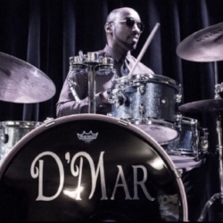 DERRICK D'MAR MARTIN:  Talented drummer/percussionist, producer and songwriter, Derrick Martin has been performing internationally for the past 20 years. Having worked in studios from Los Angeles to New York, Derrick toured the world with Rock & Roll Legend Little Richard Band for 17 years.