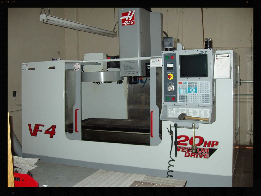 "2000 Haas Machining Center VF-4  50""x 20""x 25"", 20 Tool, 20 HP"