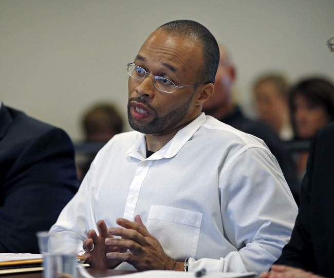 AP Photo/Elise AmendolaFrederick Christian speaks on his own behalf during a hearing before the state's parole board in Natick, Mass., Thursday, May 29, 2014.