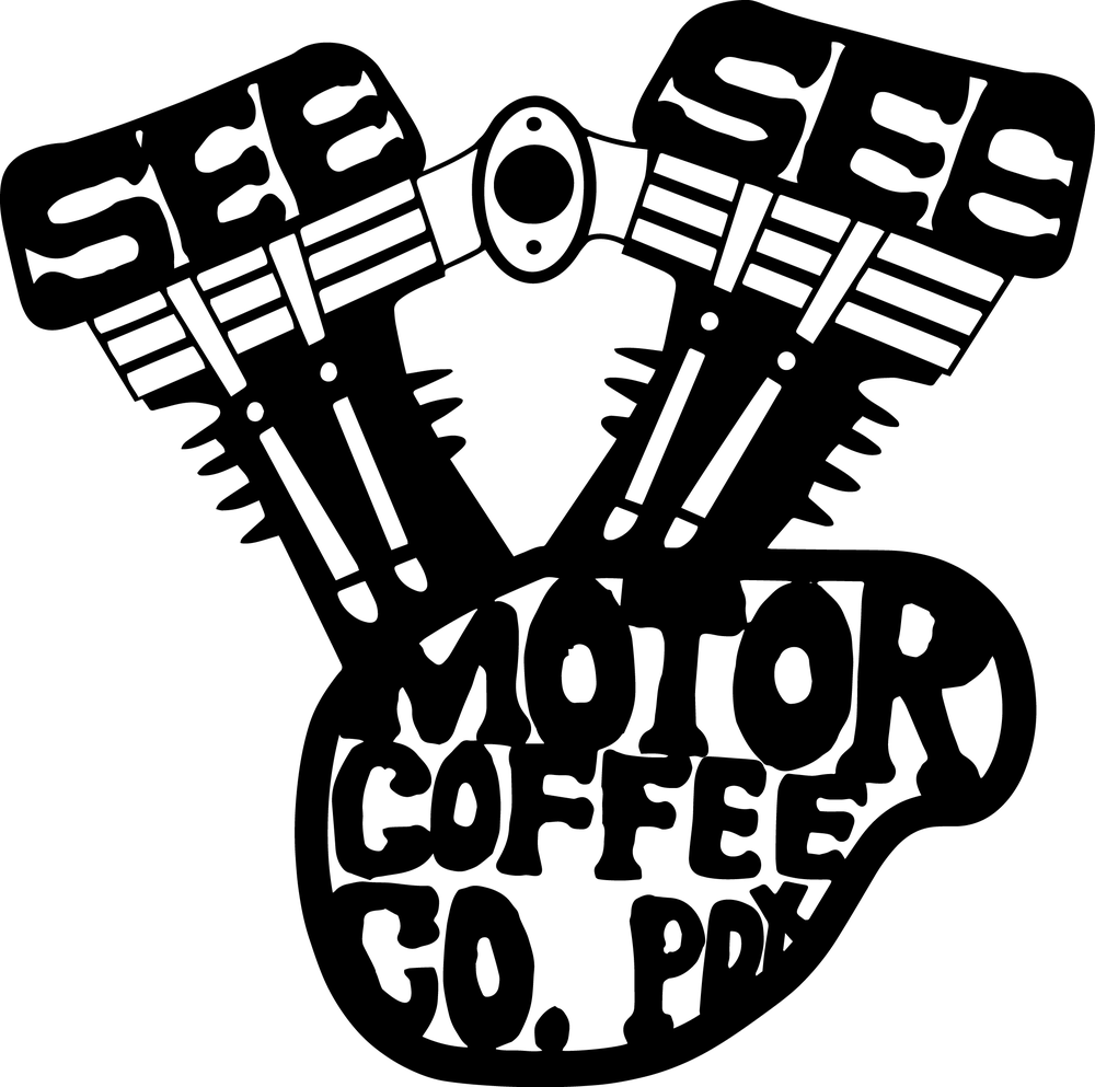 Hand lettering for a coffee cup stamp contest