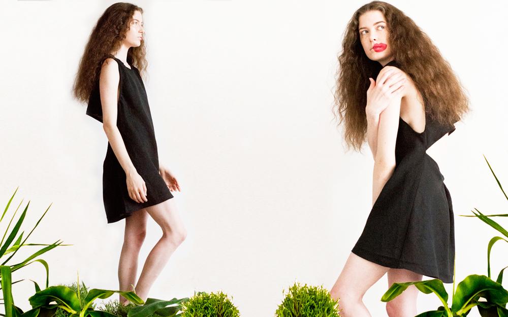 classic little balck linen dress backless handmade nyc.jpg