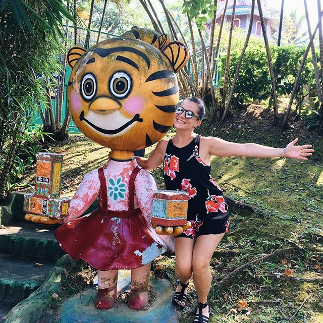 visit me in singapore and i'll give you a tour of the wildest spots 🐅🐆 #hawparvilla #tigerbalm #latergram #thegrammustbefed 📷 @wesleygoatley