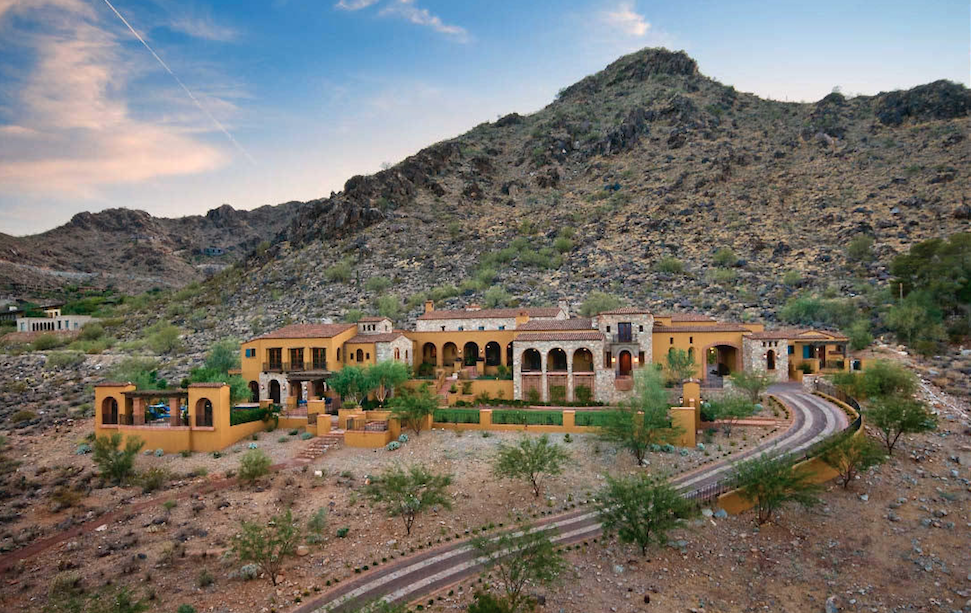 Paradise Valley private entry road leads to an exclusive hillside estate with views in all directions $10,270,000 - Robert E Joffe with Launch Real Estate