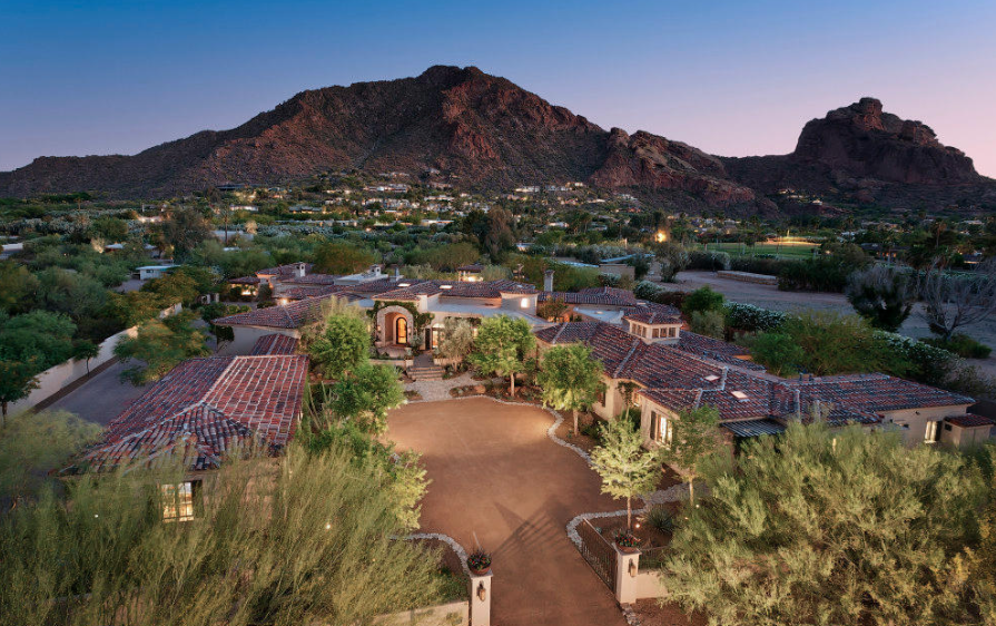 Paradise Valley extraordinary gated estate with profound views of Camelback Mountain intimate patios and dissapearing glass walls $10,800,000 - Joan A Levinson with Realty ONE Group 1.png