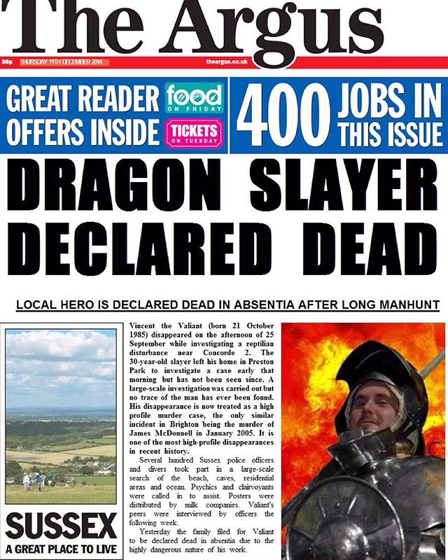 Back in December this was published. #thedragonslayerlives