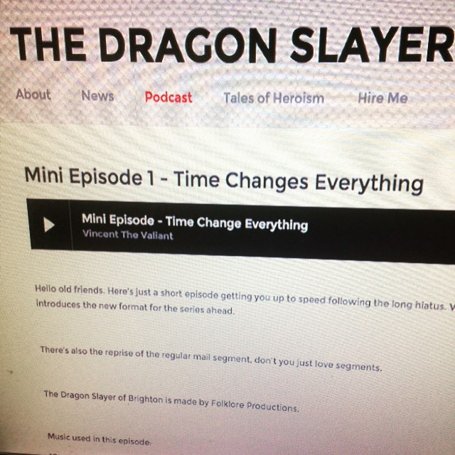 New episode is ready and waiting for you guys. Head on over to therebedragonshere.squarespace.com/podcast to check it out.