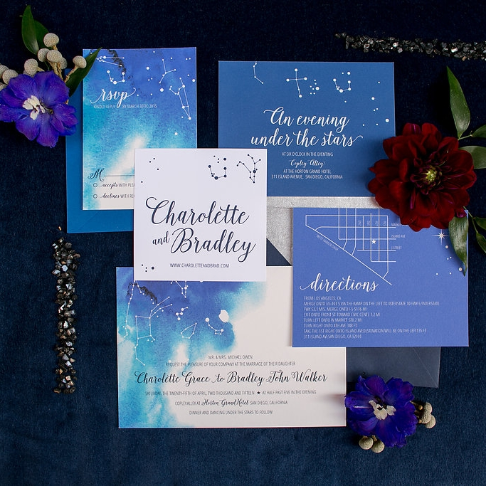 Ready-Made - Do you already have a favorite invitation in our shop? If you choose from the collection of pre-existing designs we will customize the invitation of your choice with your wording and colors.