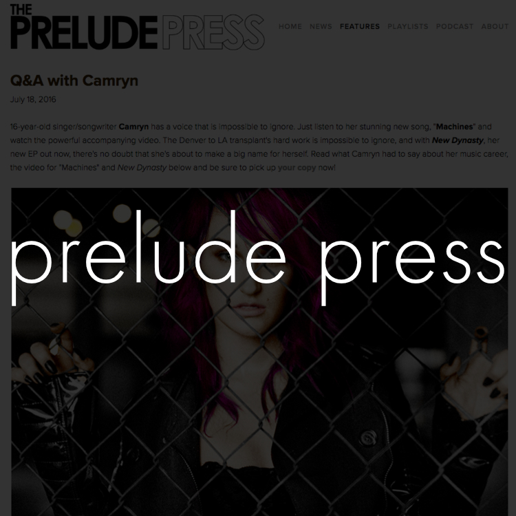 Copy of camryn prelude press