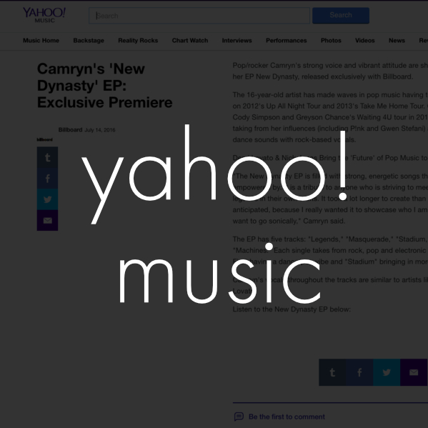 Copy of camryn yahoo! music