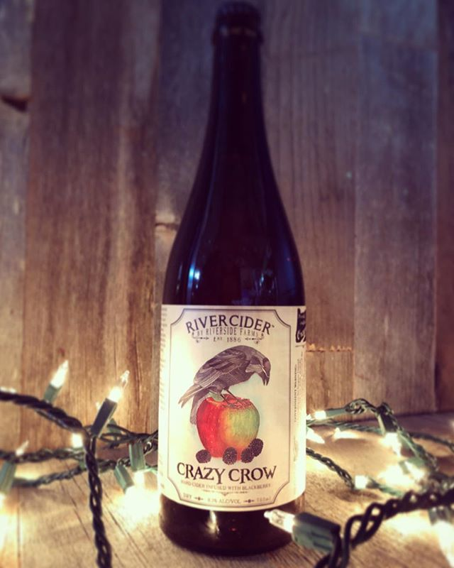 Crazy Crow #rivercider #hardcider #farmhouse #blackberry #oakaged #hoodriveroregon #farmtobottle