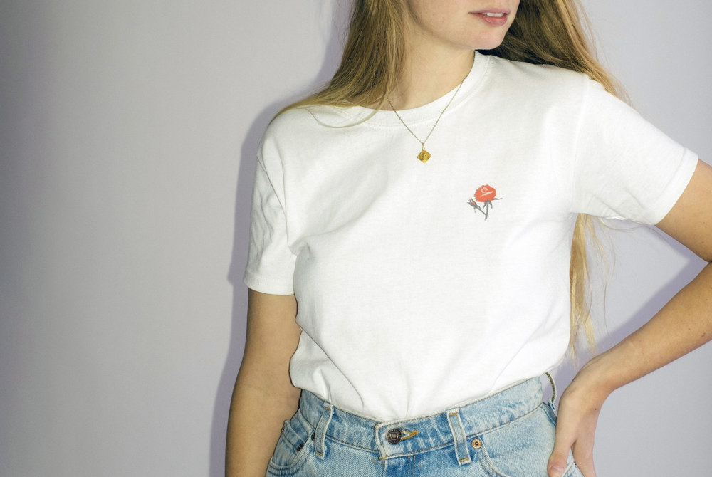 T     iny Rose Tee   $30.00