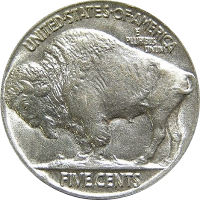 Buffalo nickel, made of 25% nickel.