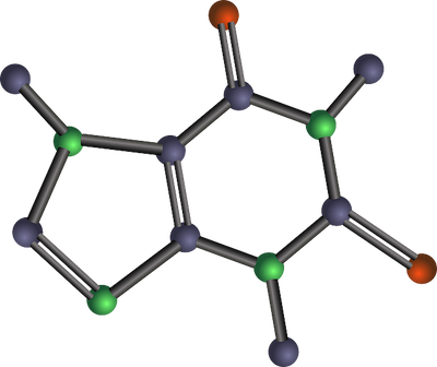 (this is a caffeine molecule, not what was used in the study but something we could all use on this Friday morning)