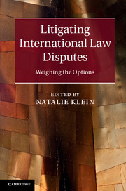 Litigating International Law Disputes