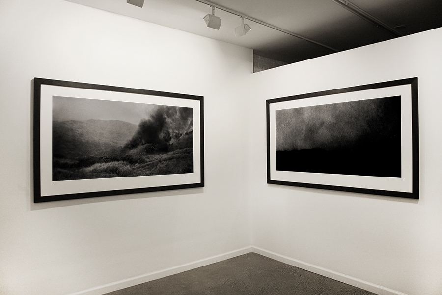 """ I Gave Gold for Iron"" and ""Surtr""  (left to right) Jeremy Dyer, 2013 Pigment print on cotton rag 30x60 inches"