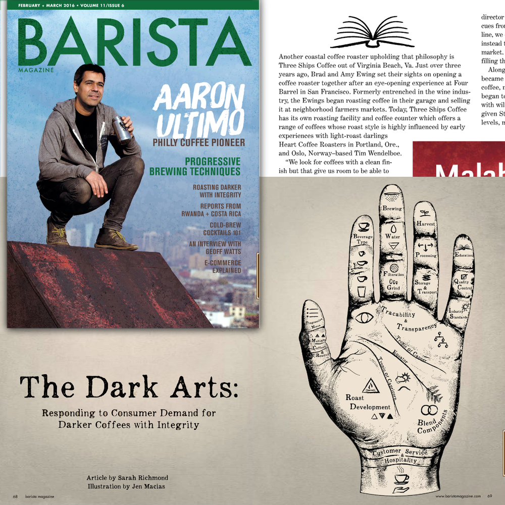 "Barista Magazine, ""The Dark Arts"" pg 68, Feb/Mar 2016"