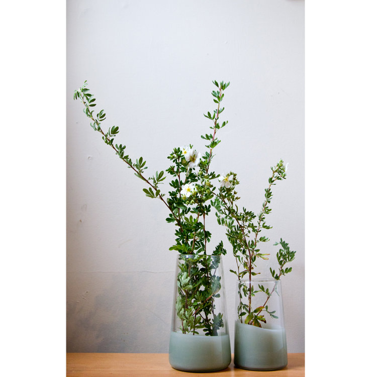 Two Tone Stem Vases