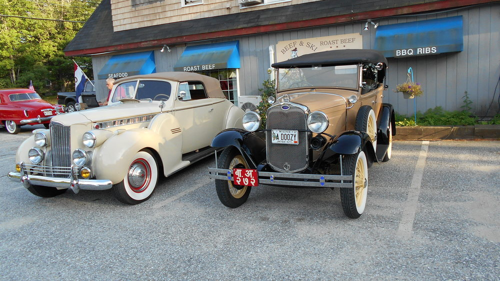 Drew's Packard and Gordon's model A