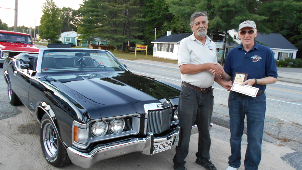 Car of the night. Dave Croteau's 73 Cougar convertible