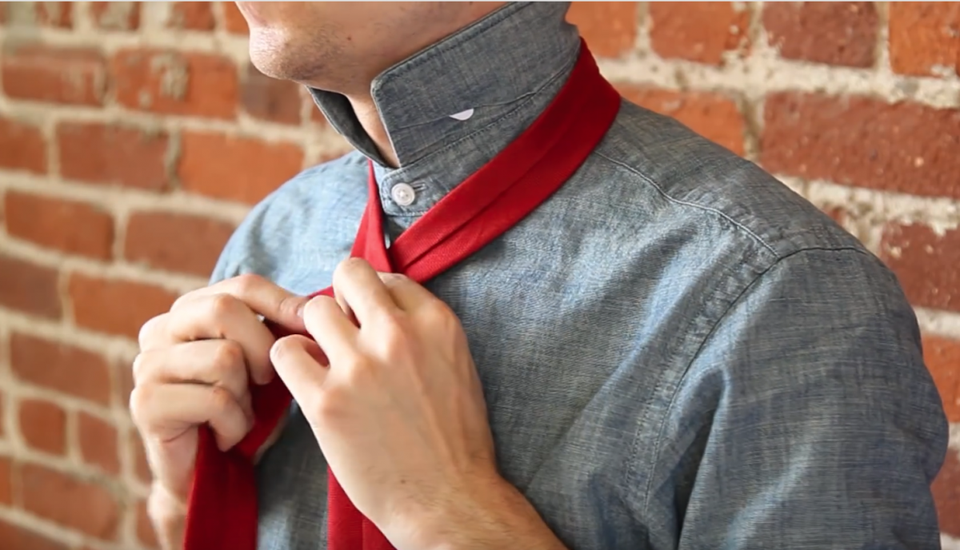One of Ties.com's YouTube video guides with step-by-step instructions for tying necktie knots.