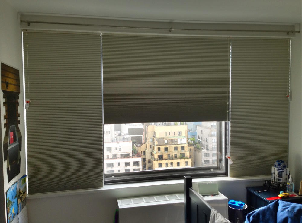Cellular shades - Upper West Side apartment