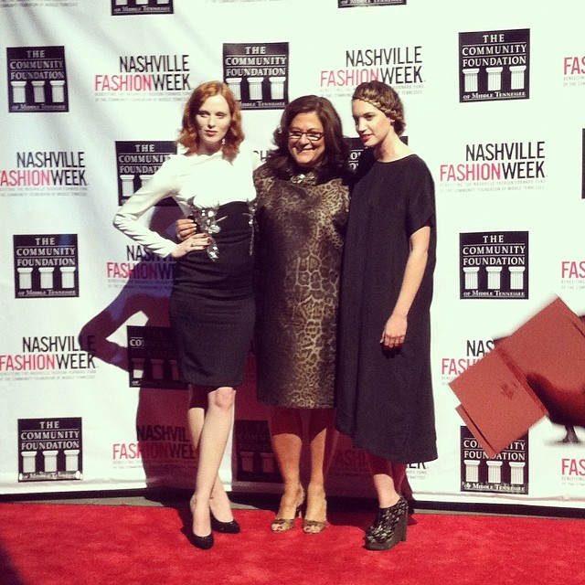 Karen Elson,  Fern Mallis, and  Elise Joseph  at the Fashion Forward Gala at OZ Nashville.  Instagram