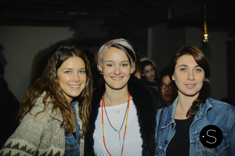 Pap Shirock, Gabriella Caspi and friend