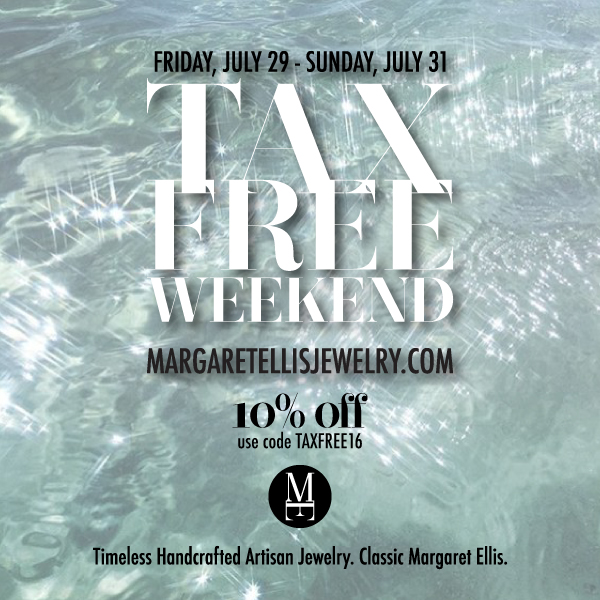 Tax Free Weekend Website Sale Upcoming Events Margaret Ellis Jewelry