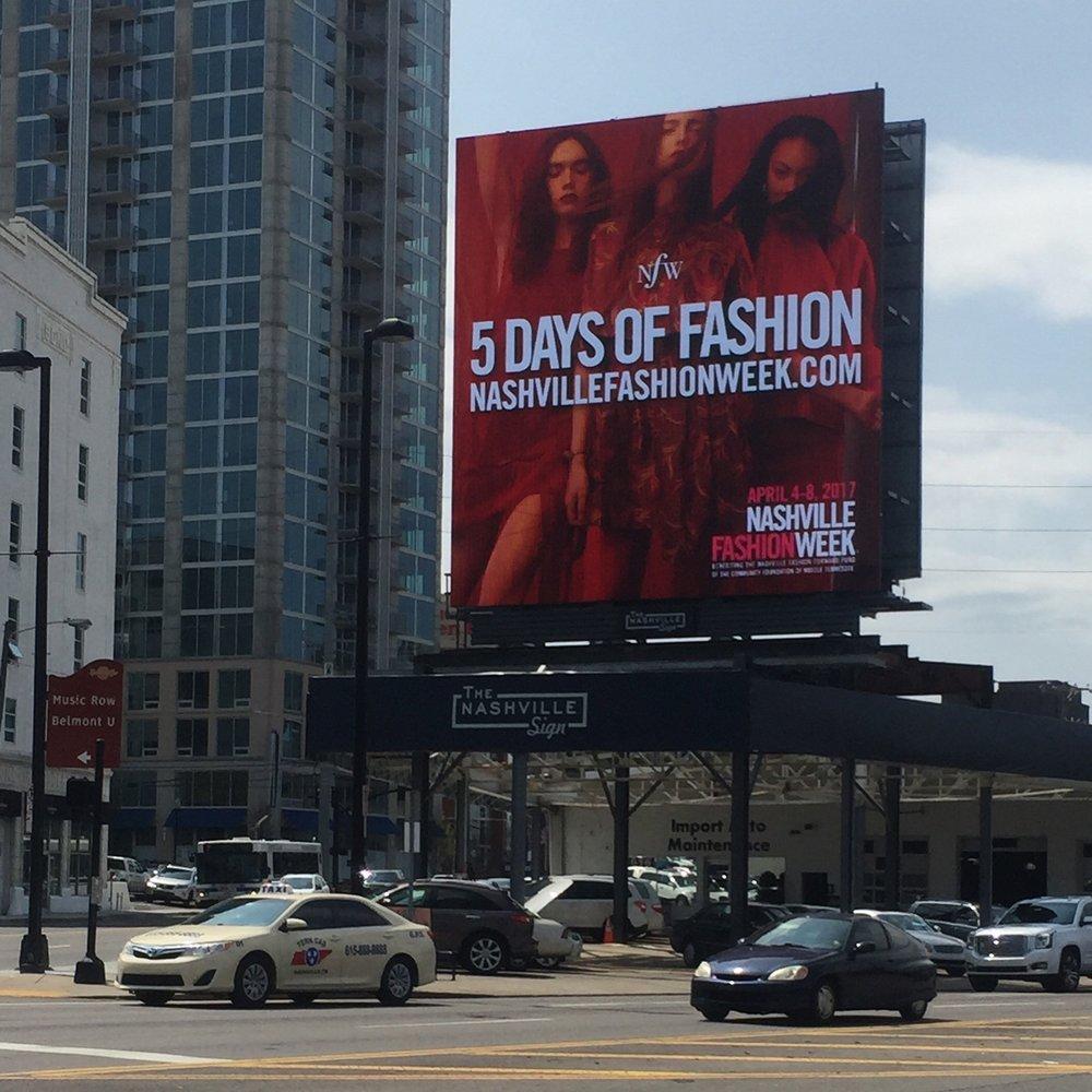 Nashville Fashion Week Nashville Sign Billboard