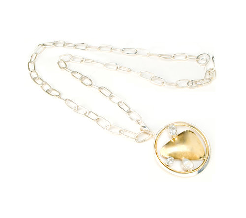 dfb3e83afb7adc Chain Necklace with White Topaz and Pearl Pendant © Margaret Ellis