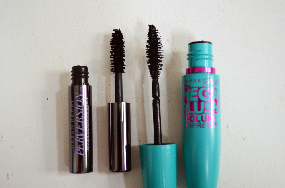 Maybelline Volum' Express MegaPlush vs. Urban Decay Perversion Mascara