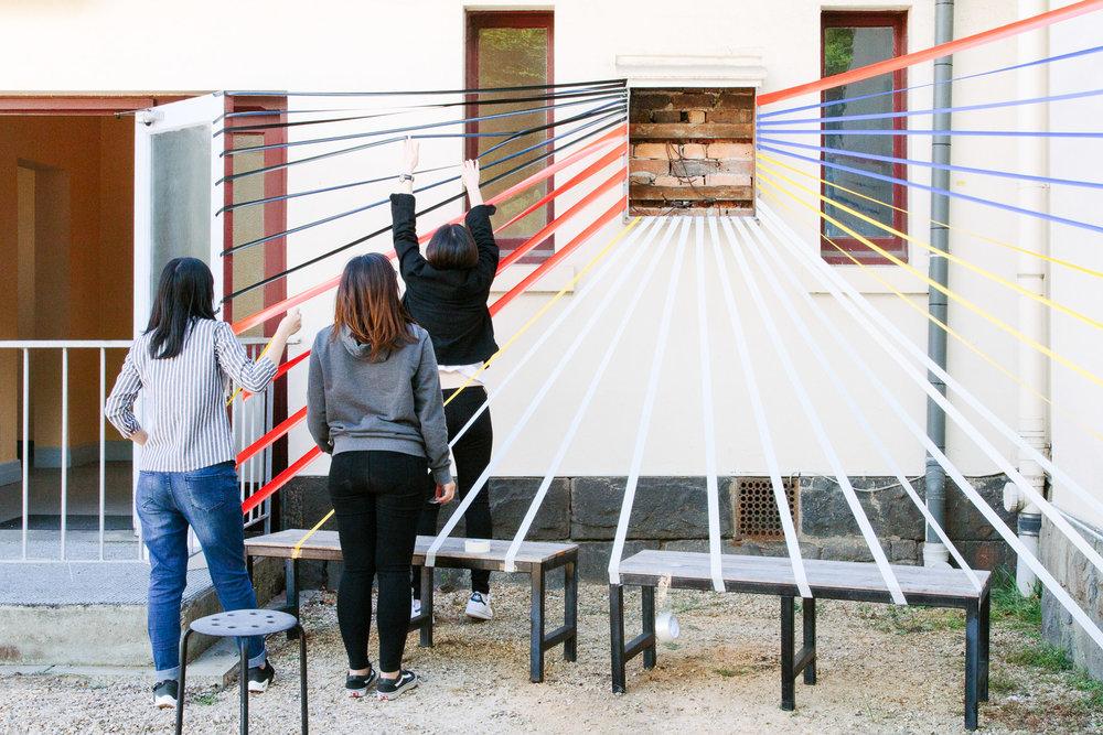emma byrnes photography, RMIT interior design, site works