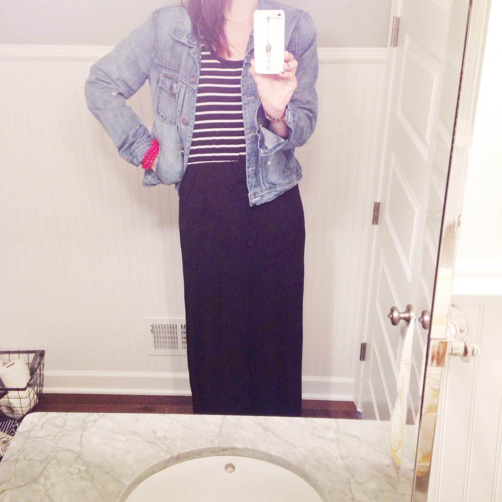Item #3 Striped Maxi Dress.
