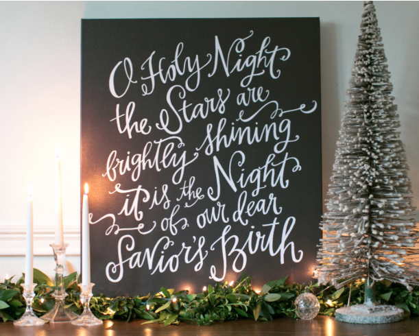 Christmas Art. And for Christmas - Lindsay Letters makes this beautiful O Holy night Art!