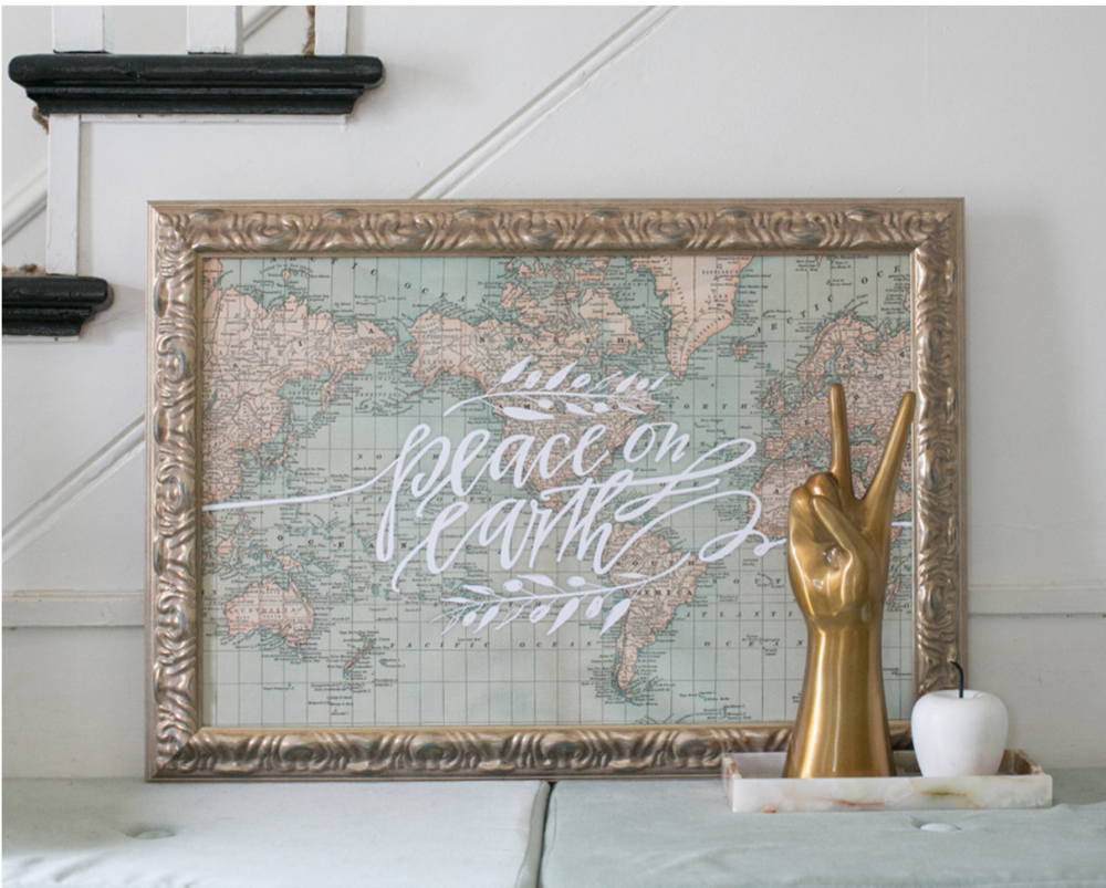 Peace On Earth Art by Lindsay Letters