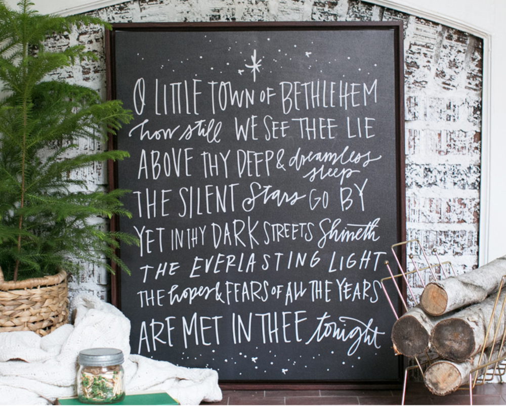 O Little Town of Bethlehem by Lindsay Letters