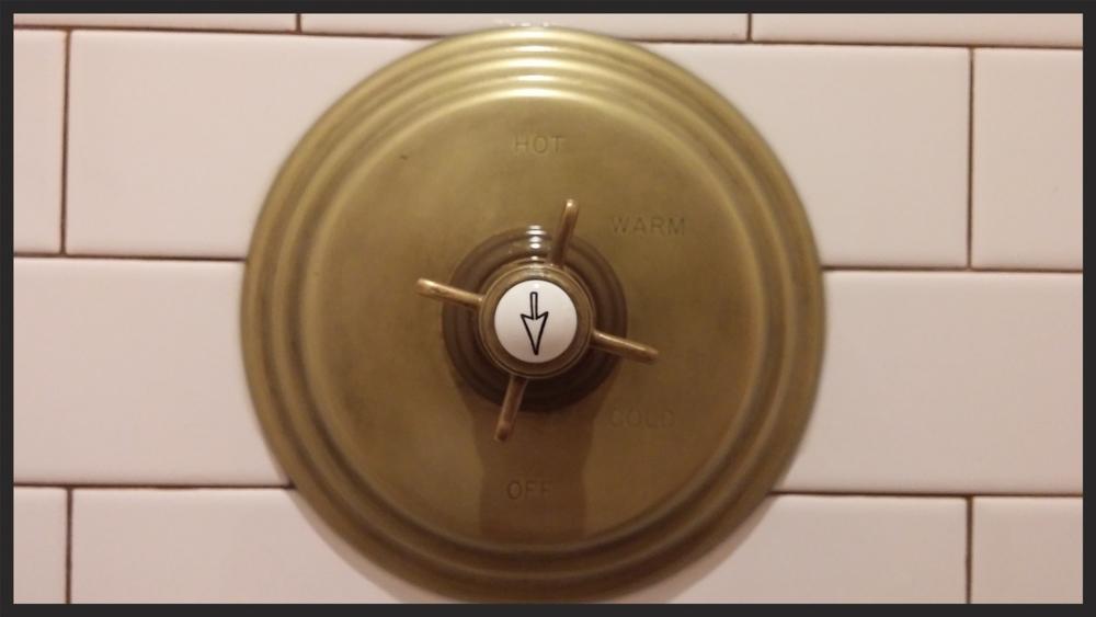 Empire room antique brass shower valve