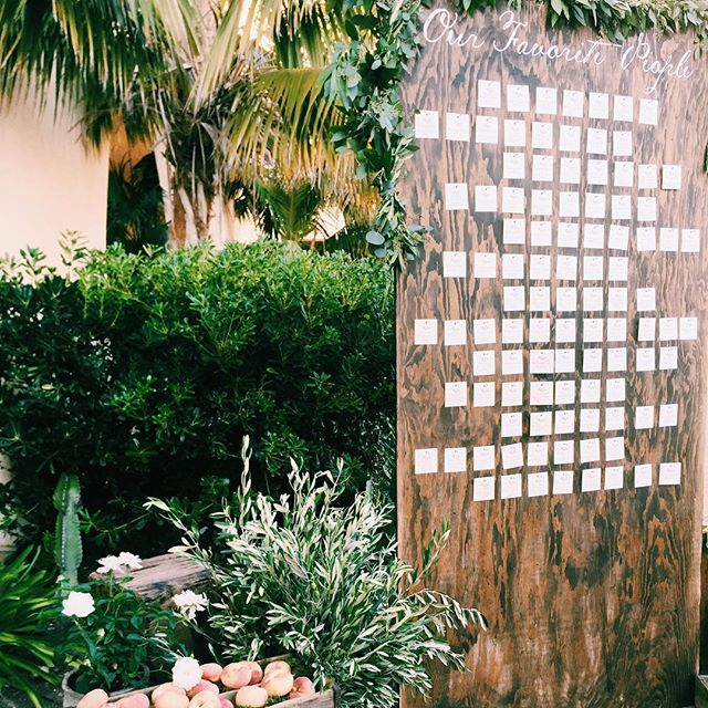 A little of 🍑 and ✒️ and a little bit of 🌿. @bobgailevents @jl_designs @blotanddot #natandjon