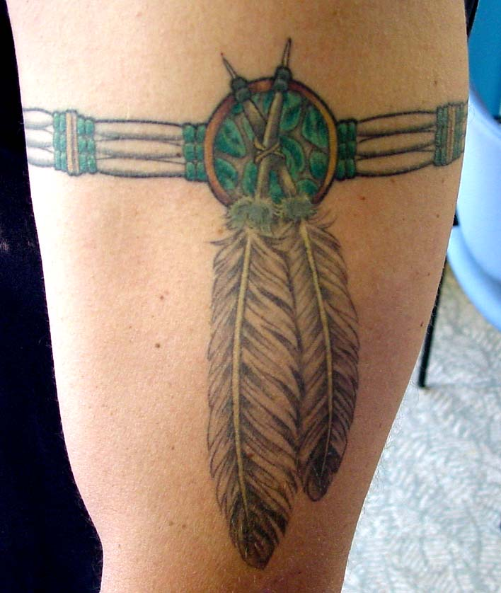 Indian Tribal Band Tattoo Indian Feather Armband Tattoo