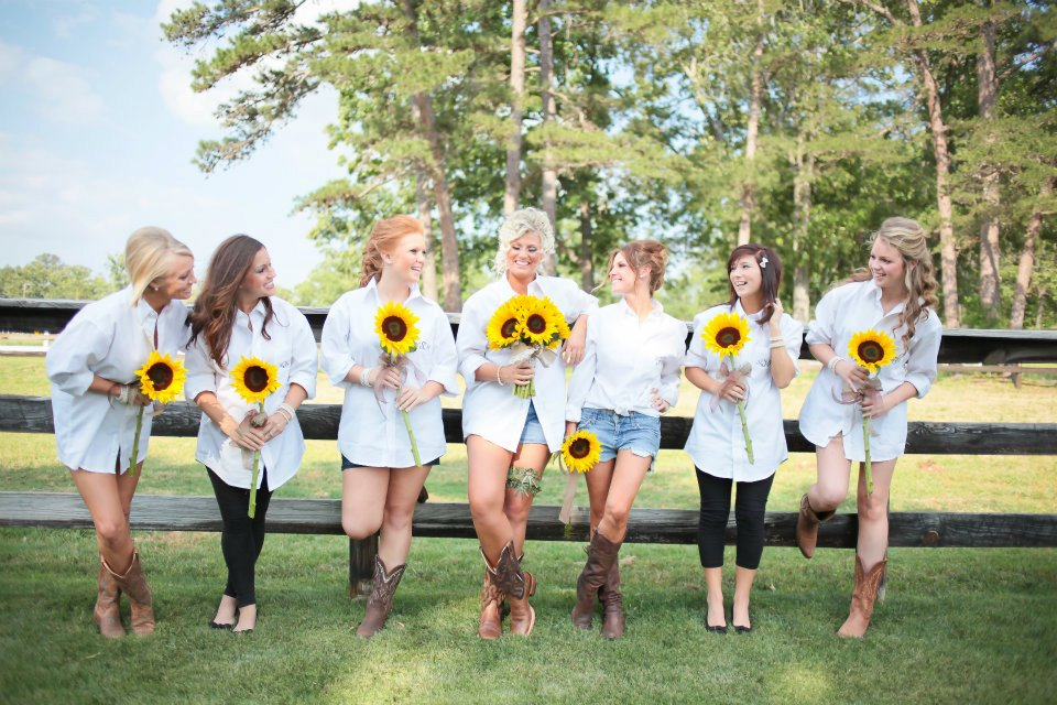 Rustic Feel To Their Wedding So We Incorporated Mason Jars Burlap And Lace With The Sunflower Centerpieces Amidst Gorgeous Flowers Bride