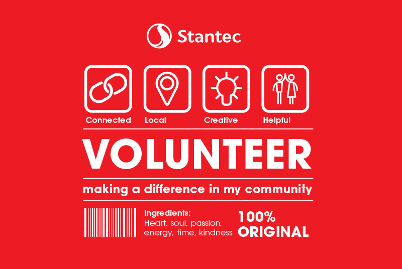 Final design for Stantec's Community Day t-shirts