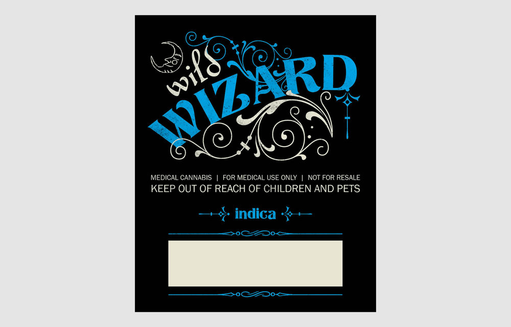 Wild Wizard Indica Label