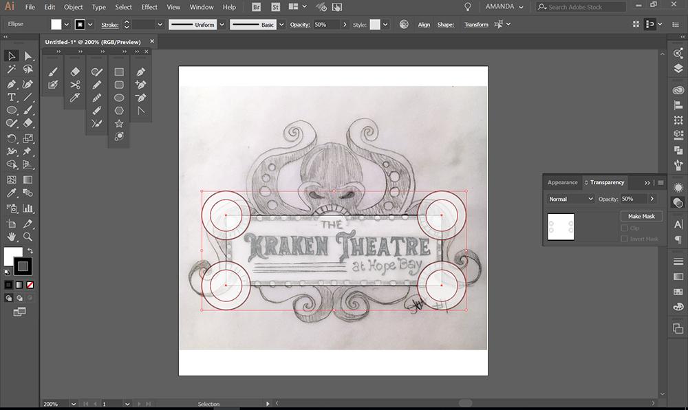 Digital illustration in progress