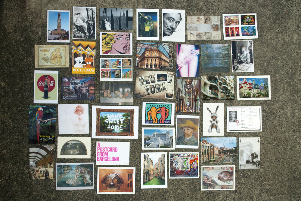 Postcards I've sent myself during my travels