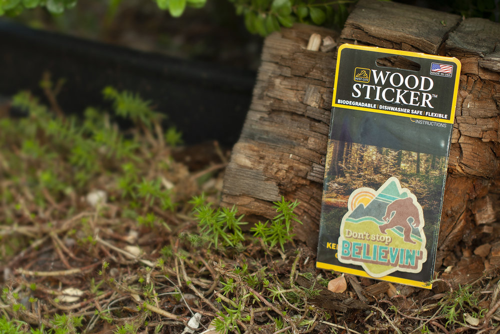 Biodegradable Wood Stickers for Nature Lovers