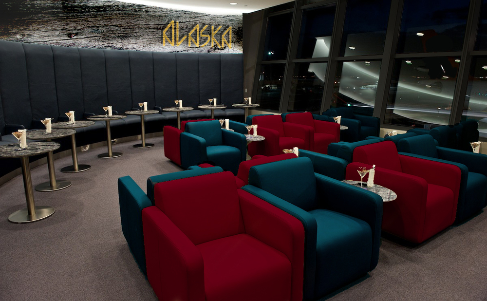 Alaska Airlines lounge design