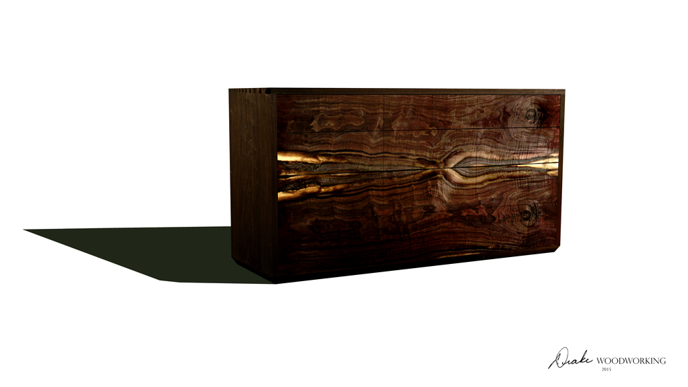 Rendering of a 13 Drawer Chest