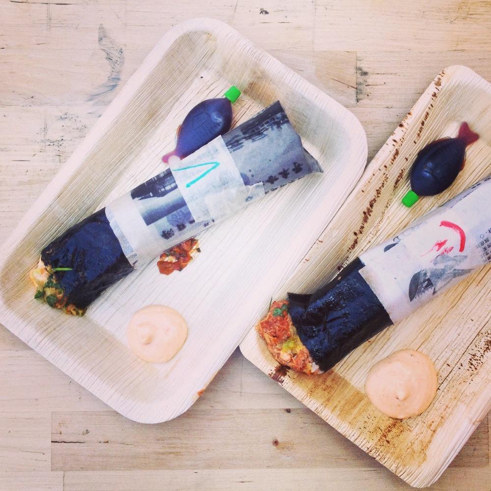 Sushi + burrito = delicious!