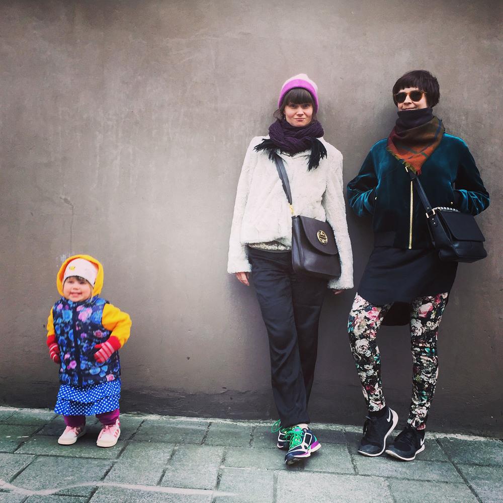 My niece Sohvi, my sister Suski & me.